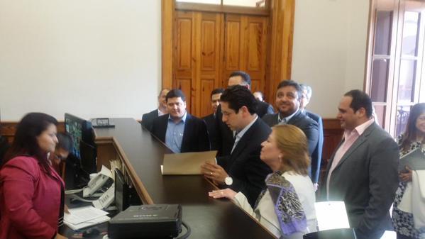 Entregaron la carta en Palacio de Gobierno