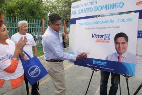 Presentó un proyecto de pavimentación, renovar baquetas y limpieza de señalamientos, en plaza pública.