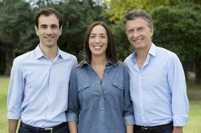 Pablo Petrecca, Maria Eugenia Vidal y Mauricio Macri