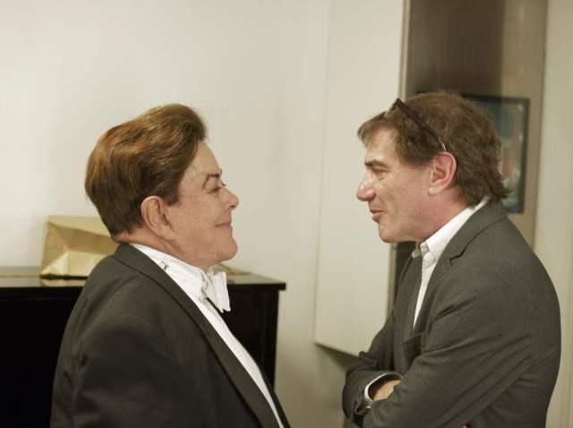 Darío Lopérfido y Bruno Gelber