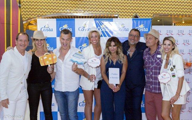 Costa Cruceros hizo su fiesta del lanzamiento de la temporada