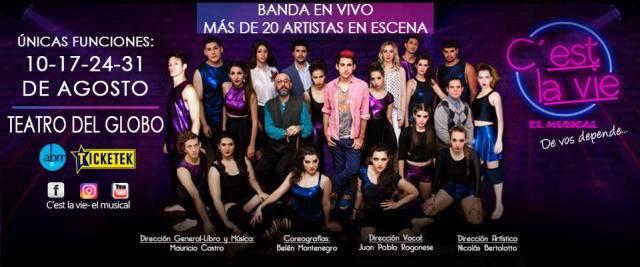 """""""C'est la Vie, el Musical"""" de Mauricio Castro en el Teatro del Globo @musicalcestlavie"""
