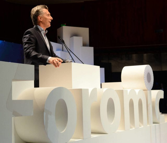 """FOROMIC Macri abogó en favor de ampliar los niveles de """"inclusión financiera"""""""