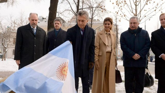 Macri encabezó la inauguración de la Plaza Argentina en Moscú