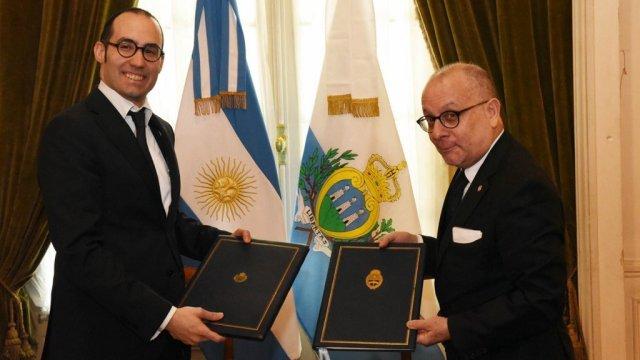 Visita oficial del canciller de San Marino a la Argentina