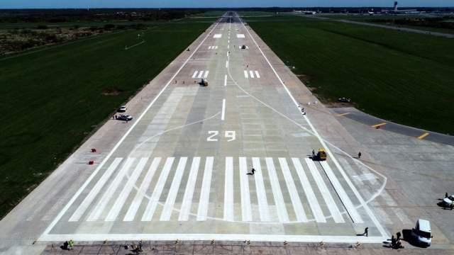 Finalizó la reconstrucción de la pista principal del aeropuerto de Ezeiza