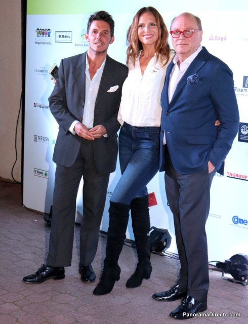 Gerard Confalonieri, Ginette Reynal y Martín Cabrales en La Rural