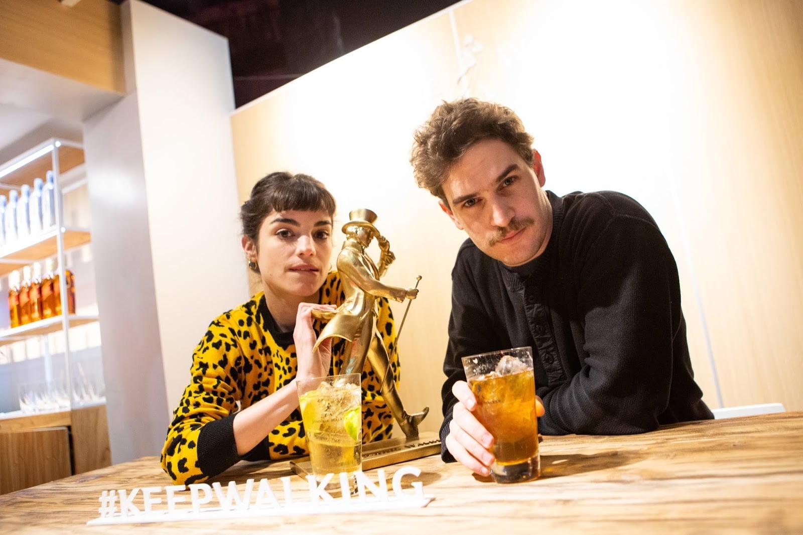 Malena Sánchez y Matias Mayer en la Feria Masticar