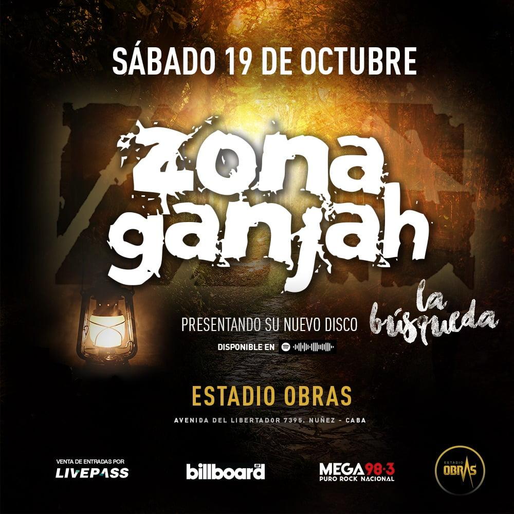 """Zona Ganjah presentará su nuevo disco """"La Búsqueda"""" en el Estadio Obras"""