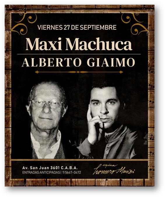 Maxi Machuca & Alberto Giaimo en Homero Manzi