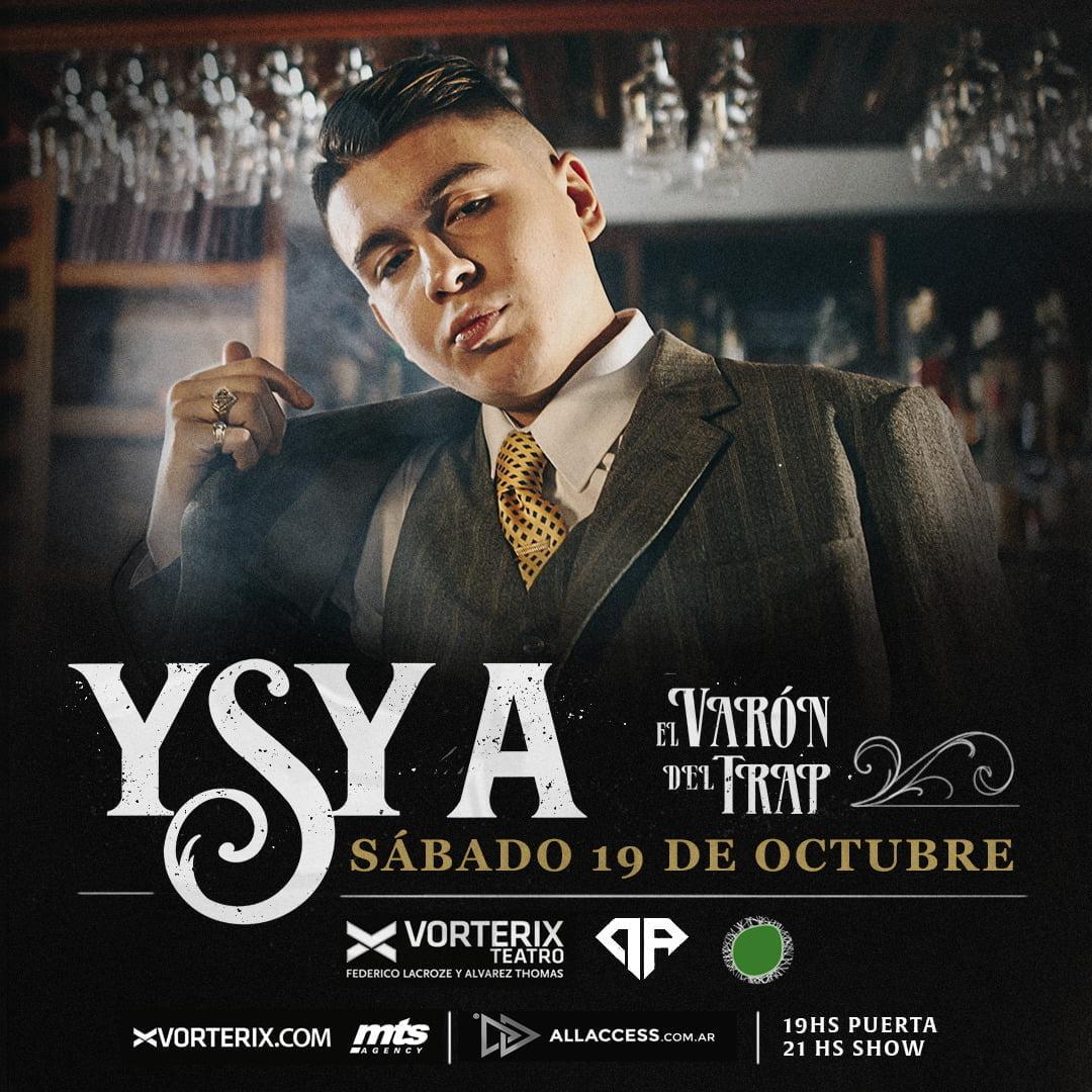 YSY A El Varón del Trap presentará su espectáculo en Teatro Vorterix