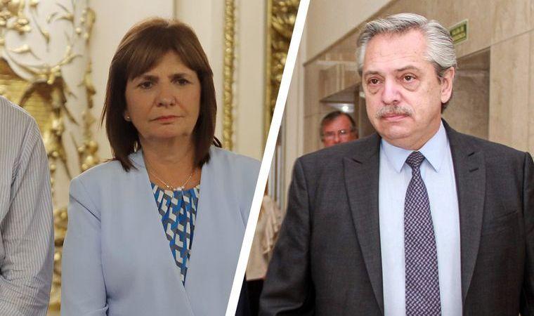 Duro cruce en redes entre Patricia Bullrich y Alberto Fernández por temas de seguridad