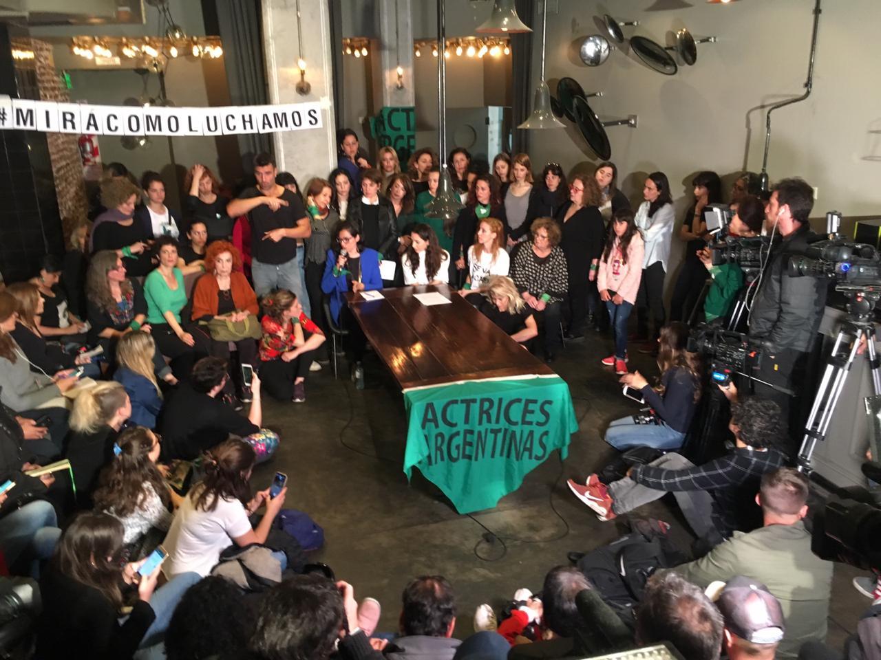 Comunicado leído por actrices argentinas en conferencia