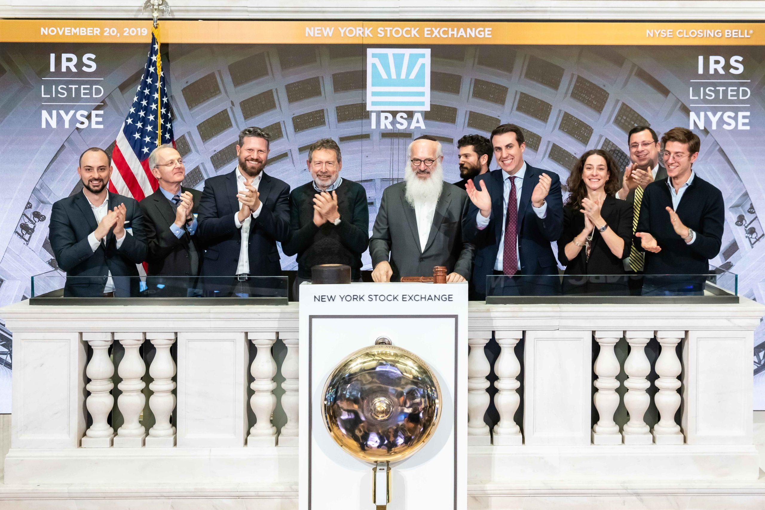 IRSA celebra 25 años de cotización ininterrumpida en Wall Street