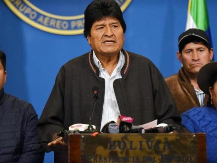 """Evo Morales denunció un golpe """"cívico, político, policial"""" y renunció a la presidencia de Bolivia"""