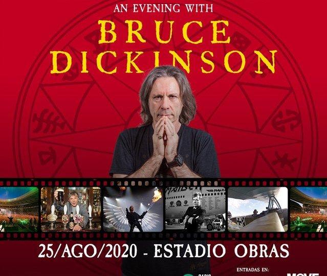 Bruce Dickinson, el cantante de Iron Maiden brindará un show unipersonal en Buenos Aires en el 2020