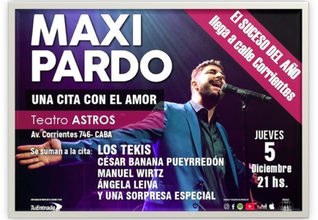 """Maxi Pardo se despide de su triunfante ciclo  """"Una cita con el amor"""""""
