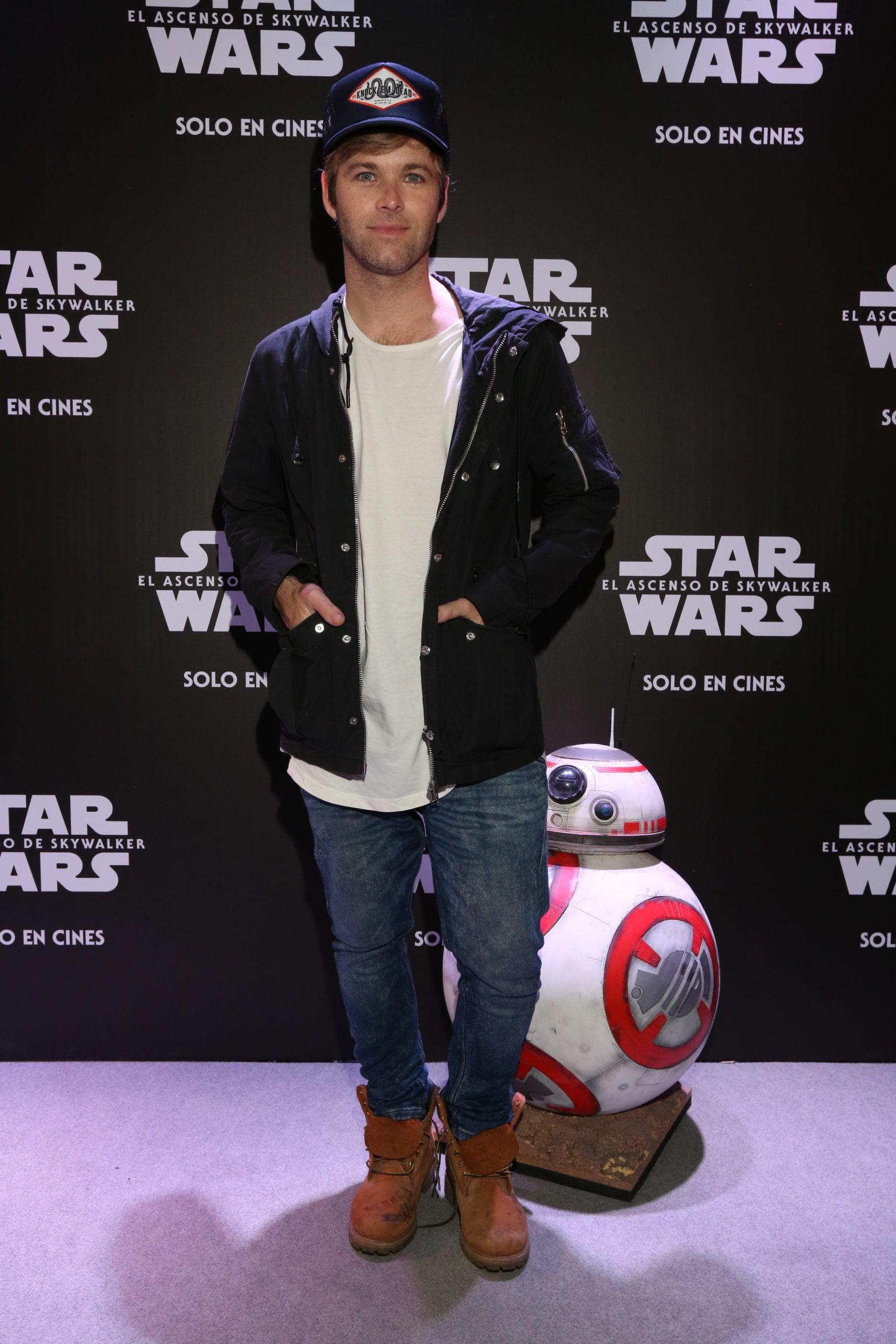 Benjamín Amadeo en la avant premiere de Star Wars