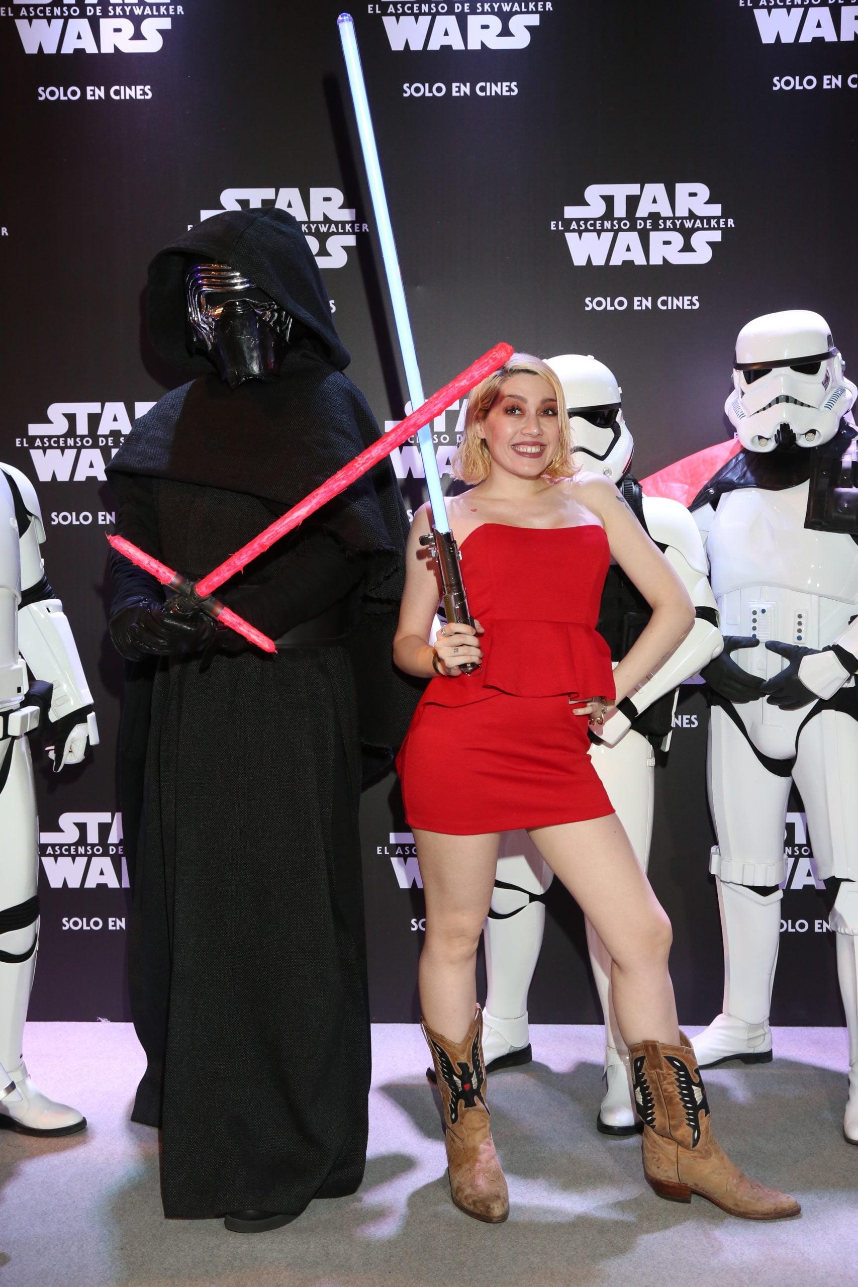 Militta Bora en la avant premiere de Star Wars