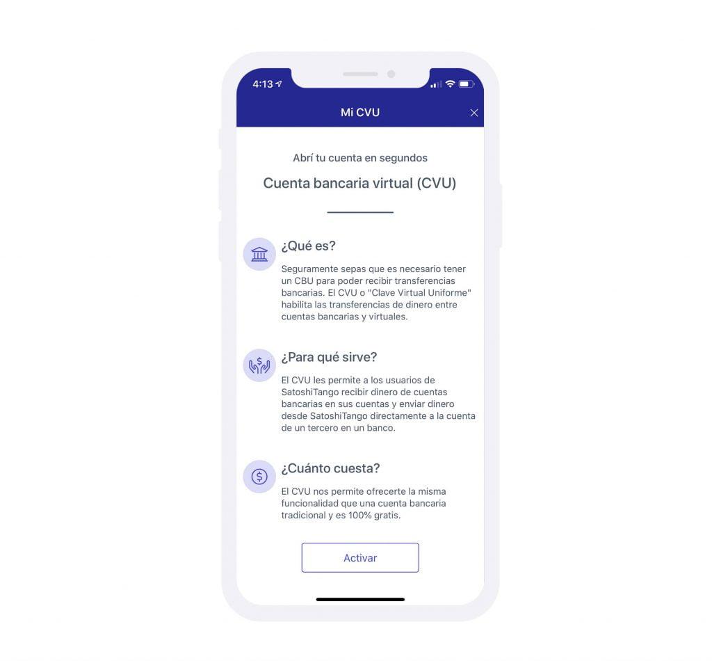 SATOSHITANGO expande servicios e incorpora el CVU: se podrá enviar y recibir dinero de cualquier cuenta bancaria o cuenta virtual del país