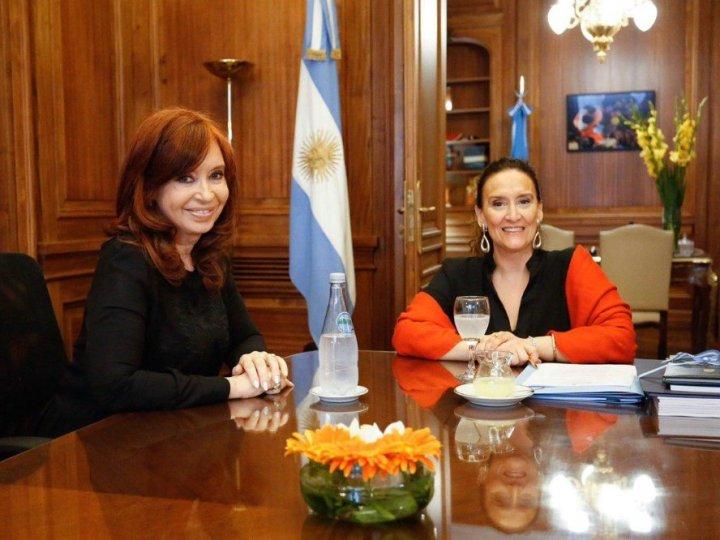 Gabriela Michetti y Cristina Kirchner se reunieron en el Congreso para acordar detalles del traspaso