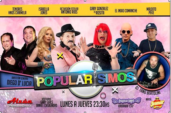 """""""POPULARISIMOS"""" con el gran Antonio Ríos en el Teatro Del Ángel"""