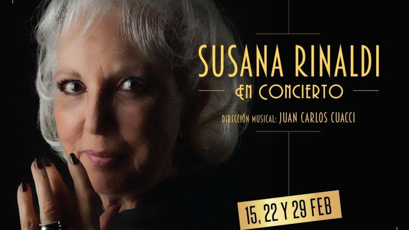 """Susana Rinaldi """"La voz de Buenos Aires"""" en el Teatro Picadero"""