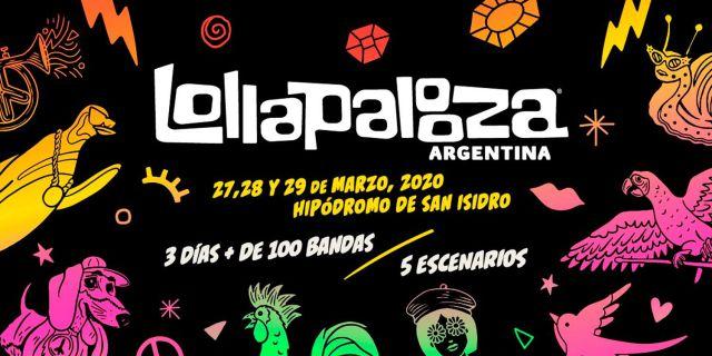LOLLAPALOOZA ARGENTINA 2020: arranca el canje y envío de pulseras