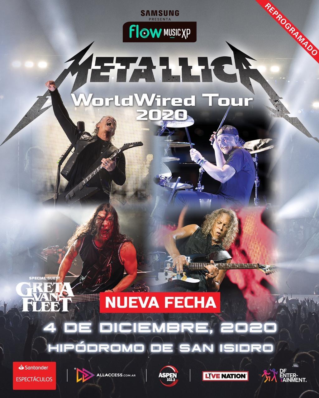 METALLICA en Argentina | Show REPROGRAMADO Viernes 4 de diciembre – Hipódromo de San Isidro