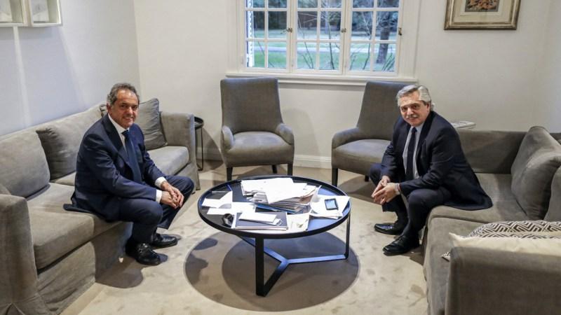 Daniel Scioli y Alberto Fernández