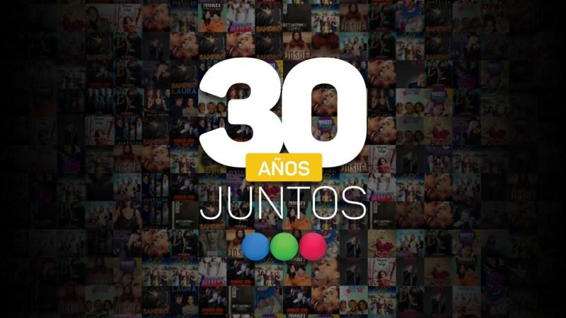 """El próximo miércoles 2/9, al término de """"Jesús"""", Telefe presenta un nuevo especial de """"30 Años Juntos"""""""