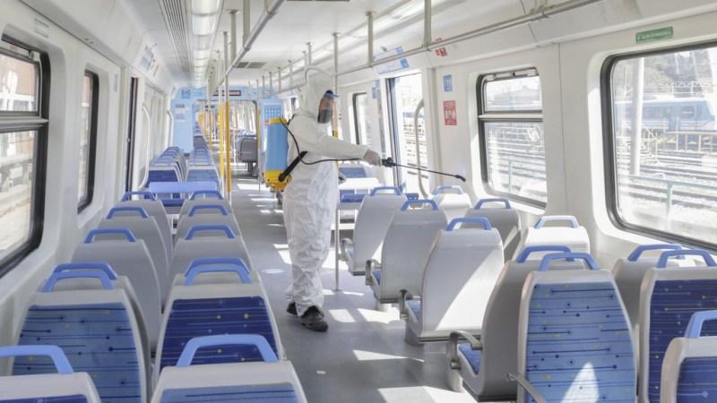 desinfección para el transporte público