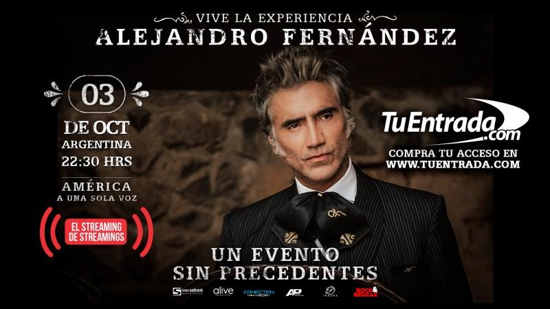 Alejandro Fernández realizará por primera vez un show vía streaming