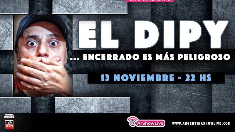 El Dipy llega con su live streaming «Encerrado es más peligroso» en Argentina Show Live