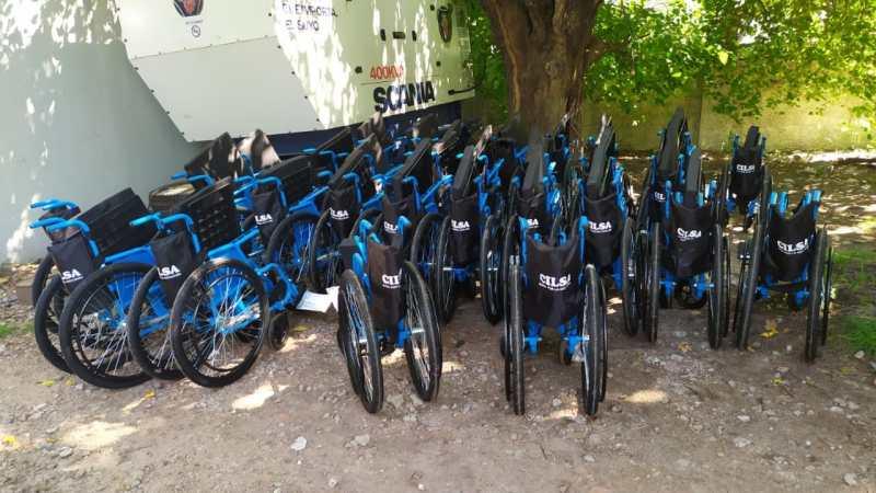 CILSA entrega sillas de ruedas para el traslado en centros de vacunación de la Ciudad de Buenos Aires