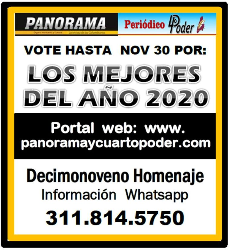 """Todo listo para elegir """"LOS MEJORES DEL AÑO 2020"""". 1"""