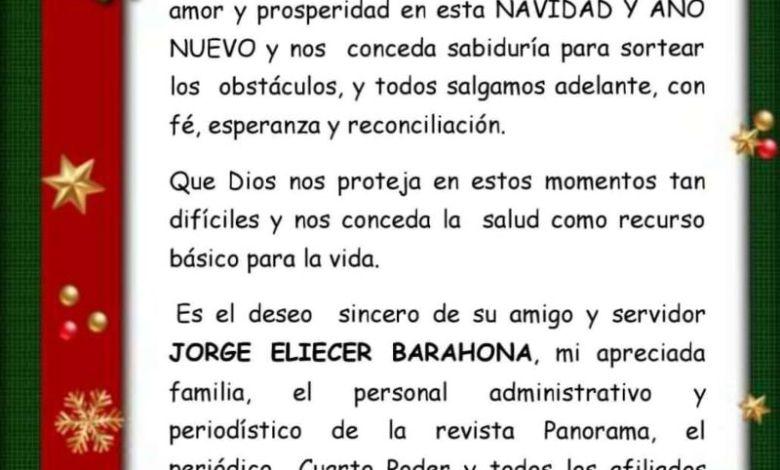 Mensaje de Fé, Esperanza y Reconciliación en esta NAVIDAD Y AÑO NUEVO. 1