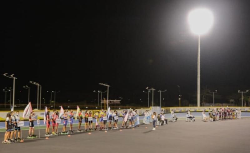 Anoche se inauguró la fase final del Panamericano de Patinaje de Velocidad de Clubes y Naciones. 1