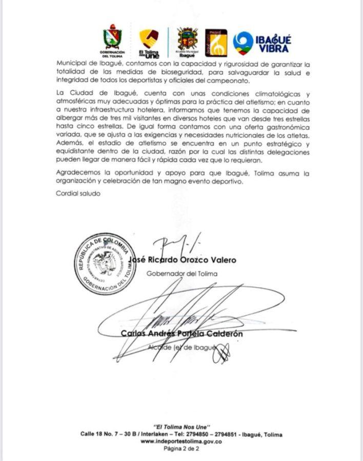 Ibagué será sede del 52º. Campeonato Sudamericano de Atletismo 4