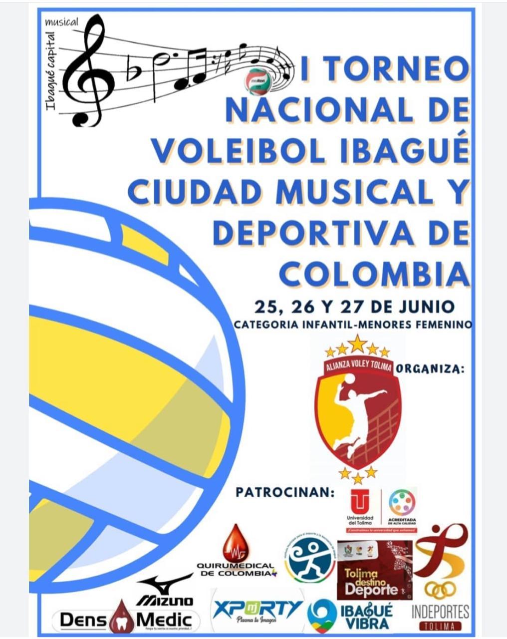 Campeonato Nacional de Voleibol Femenino, Ibagué Ciudad Musical. 1