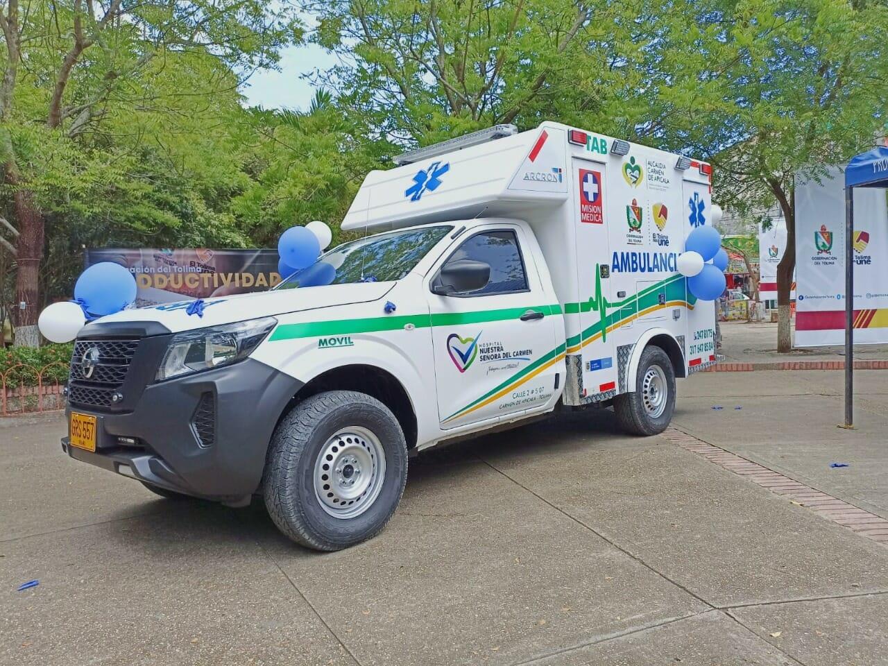 Carmen de Apicalá se sumó al grupo de hospitales que estrenan ambulancia. 1