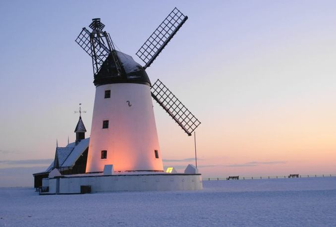 Lytham Windmill in winter