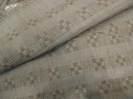 O tecido de linho duplo que queria trazer. É exactamente igual dos dois lados. Sem direito nem avesso. Uma maravilha da tecelagem! (Maria José da Rocha & Filhas).