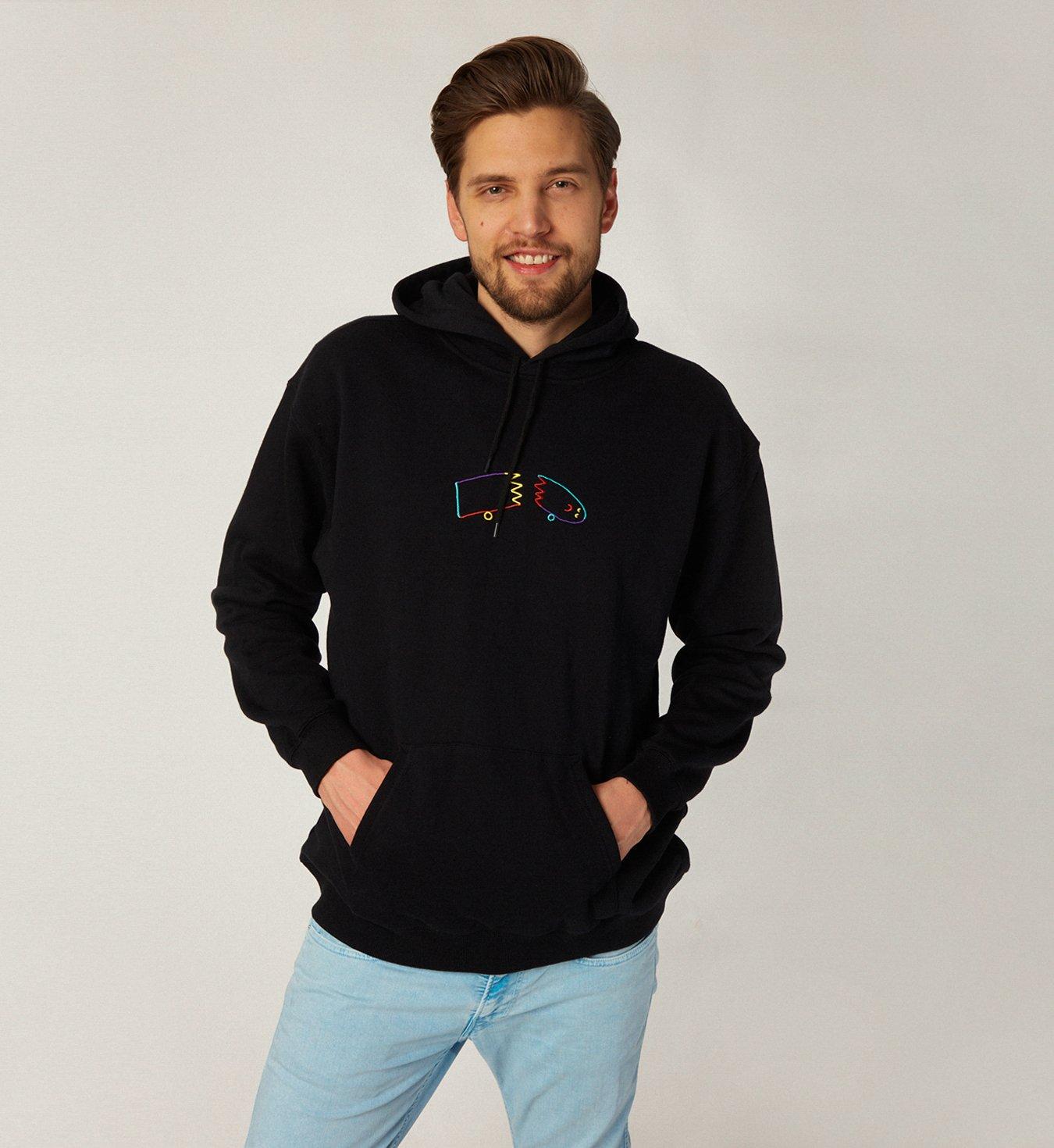 Brixton Broke Hooded Fleece Black | Mężczyzna \ Marki \ Brixton Nowości Odzież \ Bluzy Mężczyzna \ Odzież \ Bluzy Summer Sale Mężczyzna ...