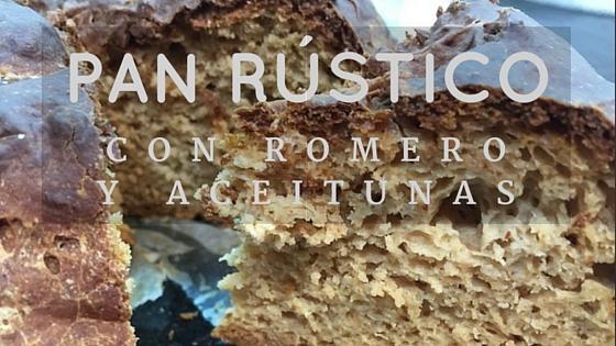 Pan rústico sin gluten de Romero y aceitunas
