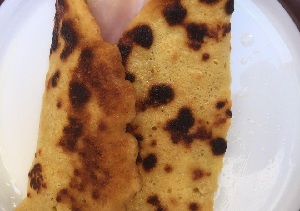 Crepe de harina de garbanzo (socca)