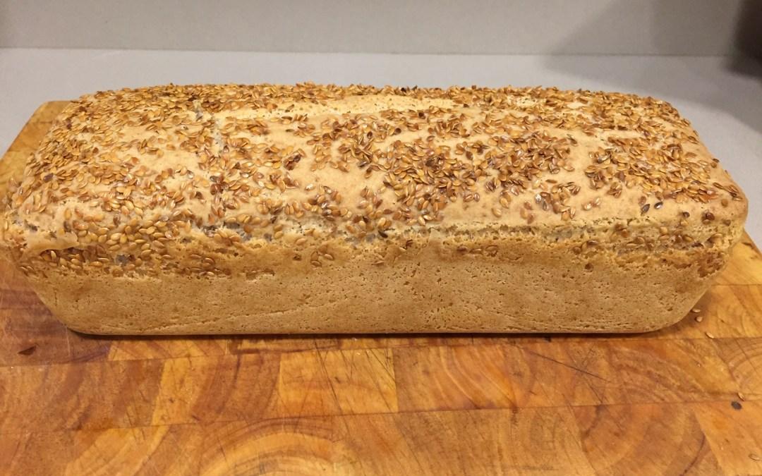 Pan lento de avena sin gluten y nueces