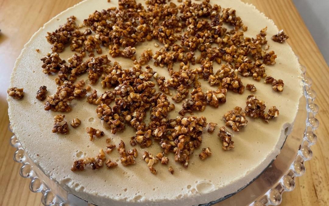 Tarta de turrón de jijona sin gluten y sin lácteos (receta de aprovechamiento)