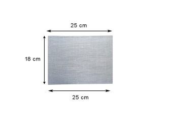 lino pared aplique gris claro rectangular