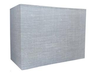 aplique pared lino gris claro rectangular